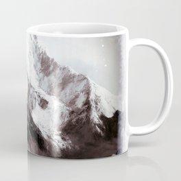 Panoramic View Of Everest Mountain Painting Coffee Mug