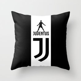 Christiano Ronaldo Juventus Throw Pillow