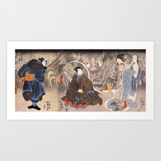 Apparition of the Monstrous Cat Art Print