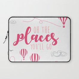 OH THE PLACES YOU'LL GO - HOT AIR BALLOON PINK Laptop Sleeve
