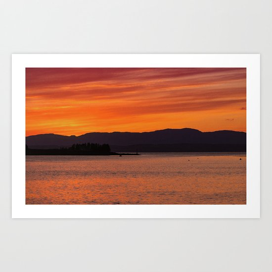 Sundown over Oban Bay Art Print