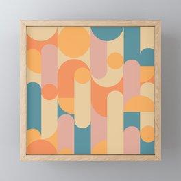 Retro Geometric Pattern Framed Mini Art Print