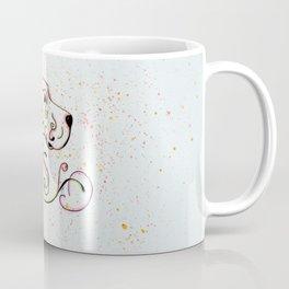 Abstract Orange English Setter Coffee Mug