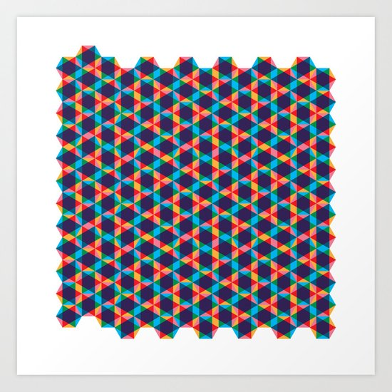BP 78 Star Hexagon Art Print
