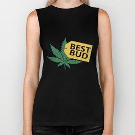 Best Bud Store Joke Pot Weed Smoke High Vape Marijuana Leaf Funny Vape Biker Tank
