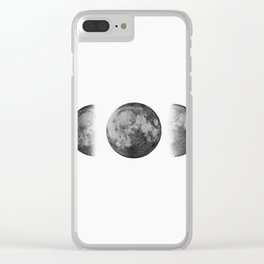 Phases of the moon - Scandinavian art Clear iPhone Case