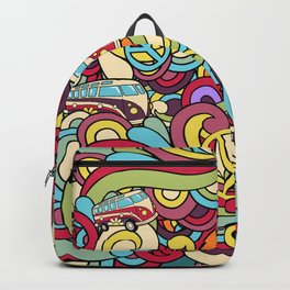 Colorful Hippie Swirl Pattern 2 Backpack