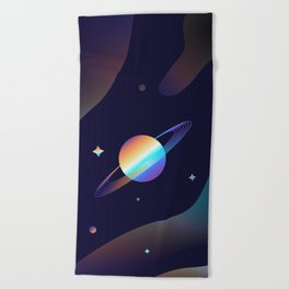 Holographic Galaxy Beach Towel