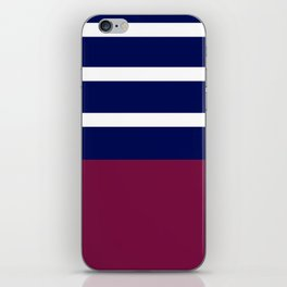 Summer Patio Perfect, Brown, White, Navy iPhone Skin