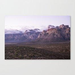 Purple Mountains Canvas Print