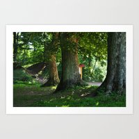 germany Art Prints featuring Germany by Trinnytron