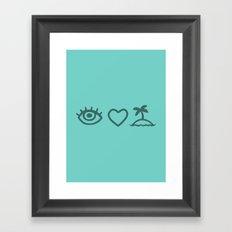 Eye Love Paradise Framed Art Print