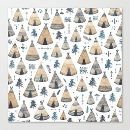 Tepees! Canvas Print