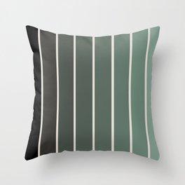 Gradient Arch - Green Tones Throw Pillow