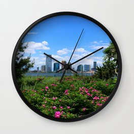 View Onto Jersey City Wall Clock