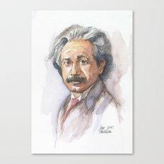 Albert Einstein Watercolor Portrait Canvas Print