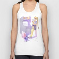 sailormoon Tank Tops featuring 90s Sailormoon by Collectif PinUp!