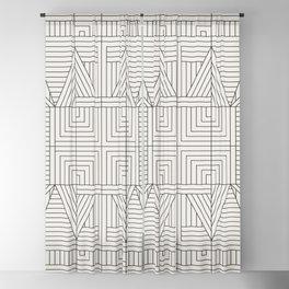 LINE MANDALA Blackout Curtain