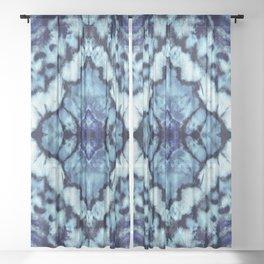 Tie Dye Linen Ikat Sheer Curtain