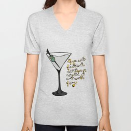Duct Tape or A Martini Unisex V-Neck