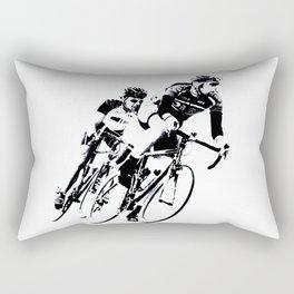 Bicycle racers into the curve... Rectangular Pillow