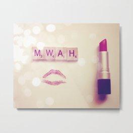 MWAH Lipstick Rose Scrabble Metal Print