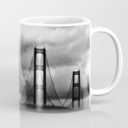 Mackinac Bridge fog Coffee Mug