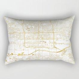 Phoenix Map Gold Rectangular Pillow