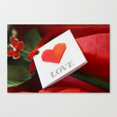 Simple Origami Love Canvas Print