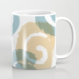 Brush Spirals Tan and Steel Coffee Mug