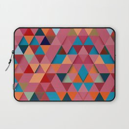 Colorfull abstract darker triangle pattern Laptop Sleeve