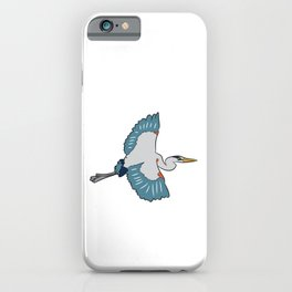 Great Blue Heron Bird Love Heron Birds iPhone Case
