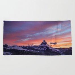 Himalayas Fishtail Mountain Sunset Beach Towel