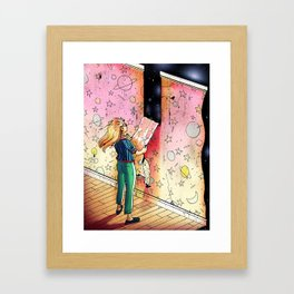 """How Much More Can We Learn About the Universe?"" by Jackie Ferrentino for Nautilus Framed Art Print"