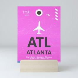 Airport code Atlanta Mini Art Print