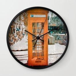 Phone booth Wall Clock