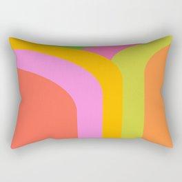 Vibrant Curves Rectangular Pillow