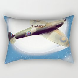 Spitfire at night Rectangular Pillow
