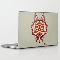 princess mononoke Laptop & iPad Skins featuring Princess Mononoke by StraySheep