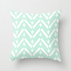 Chevron Herringbone ZigZag pattern - light mint green #Society6 Throw Pillow