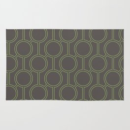 Linked Oval Pattern Rug