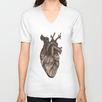 anatomical heart V-neck T-shirts featuring Anatomical Heart by Redmonks