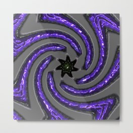 """the Thing that makes the Waves : Indigo Metal Print"