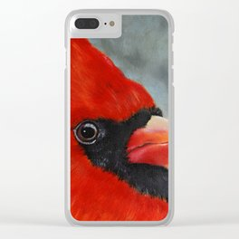 Male Cardinal Clear iPhone Case