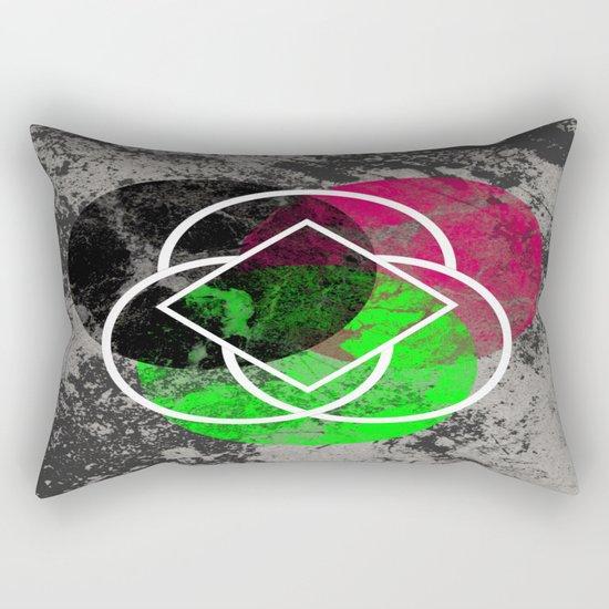 Textured Trio - Abstract, Geometric, Textured Artwork Rectangular Pillow