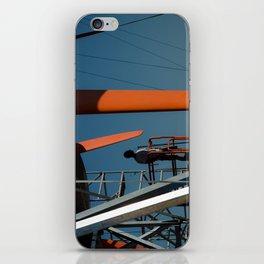 orange blue iPhone Skin