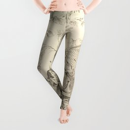 Grisaille Chinoiserie Leggings