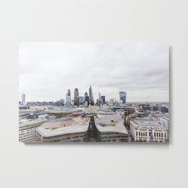 City View of the Financial District of London from St. Paul's Cathedral Metal Print