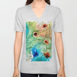 Earthy Abstract - Dance Party - Sharon Cummings Unisex V-Neck