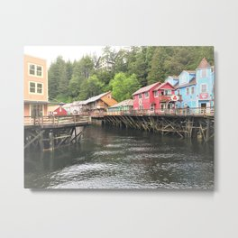 Creek Street Ketchikan Alaska Metal Print
